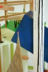 Detail of 'Plinth Towers', Ceramic, wood, wax, bronze and Hornby figurines.