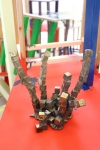 'Oil Rig' Bronze in 'Plinth Towers', Ceramic, wood, wax, bronze and Hornby figurines.