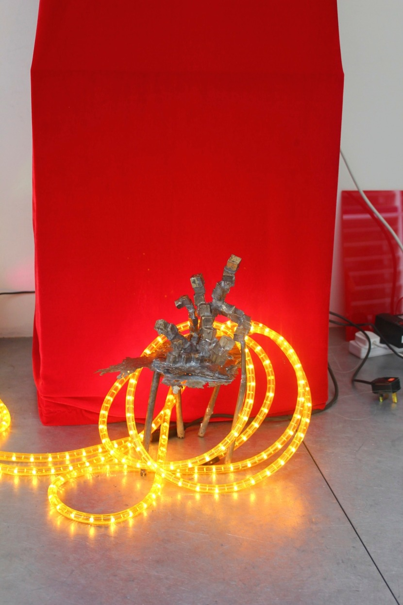 'Oil Rig', Bronze and LED Lights