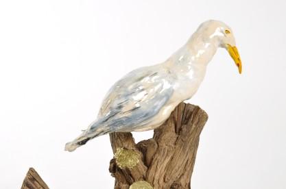 Gull, Ceramic and Wood