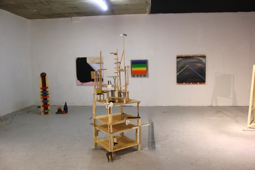 Oil Tower & Ventilator by Alex Wood & paintings by Sean Penlington