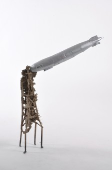 R101, Card zeppelin and bronze mooring mast, Private Collection