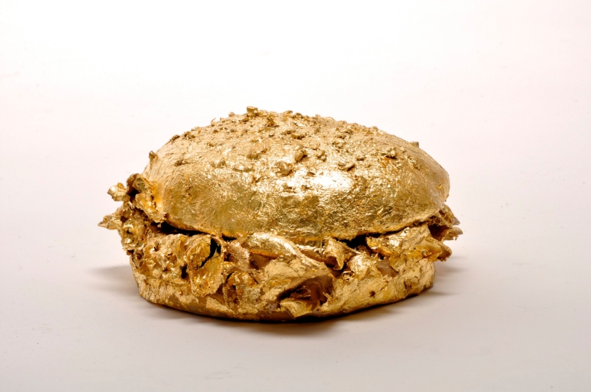 Not A Nugget (Gilded Porcelain Hamburger)