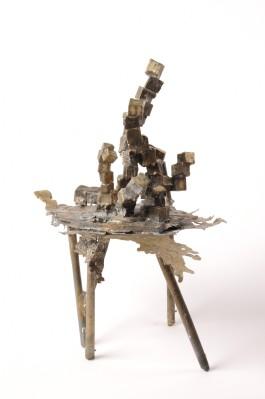 Cubes #2 - Oil Rig, Bronze