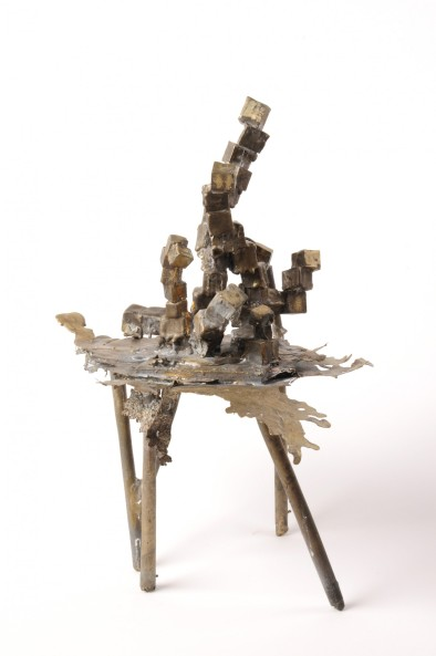 Cubes #2 - Oil Rig, Bronze