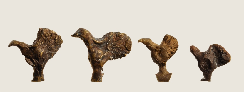 Pagoda Roosters, Bronze