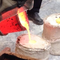 Bronze Pour whilst resident artist and Foundry Fellow at Camberwell College of Arts