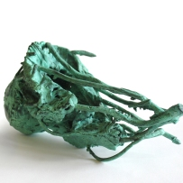 Hidden Depths, Patinated Verdigris Bronze, 2014. Private Collection USA