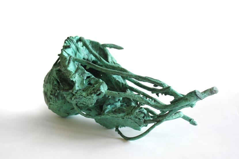 Hidden Depths, Patinated Verdigris Bronze, 2014. Private Collection USA