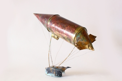 'The Dirigible', Brass and lead, 2014