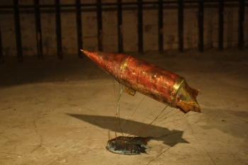 The Dirigible, Brass and Lead, 2014. Private Collection