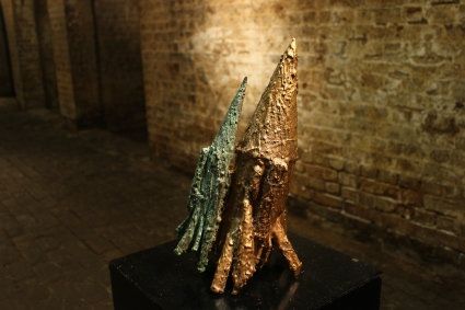 Two Projectiles, Bronze, 2014