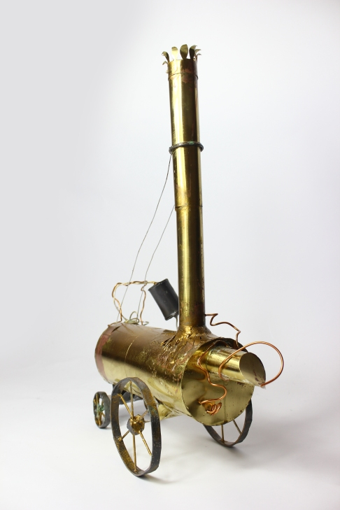 The First Rocket, Brass & Lead, 2015. Private Collection