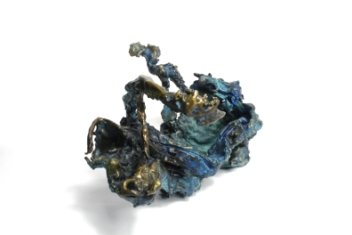 The Plume, Patinated bronze, 2015. Private collection