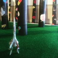 """""""Daily Mail"""" Rocket by Alex J Wood at 'Highway to Hell' at Palazzo Michiel"""