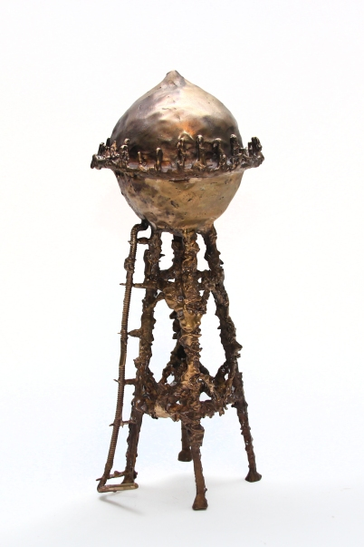 The Tower, Patinated Bronze, 2015