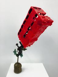 Out of this World (Bus Number 9 to Aldwych), Patinated bronze and wax, 2014