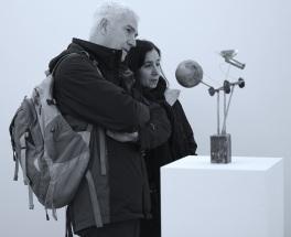 Old Peculiar, Brass, lead, paper, wire, patina, 2015 (Photo G Baldari)