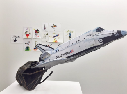 Installation view of Discovery and Space Series Watercolours, Photo by Nicholas Laborie