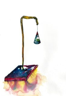 Suspension, Watercolour and ink on paper, 2015
