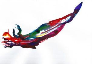Celestial, Watercolour on paper, 30 X 20 CM, 2016