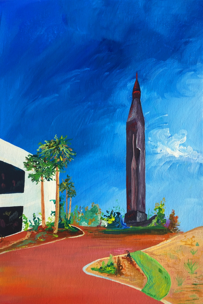 The Rocket Garden, Acrylic on canvas, 20 x 30 cm, 2017