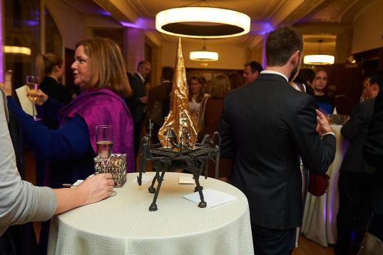 Apollo 11, Bronze, 2014 Photographs courtesy, © Licensed to simonjacobs.com. 18.10.16 London, UK.Chris Lewis, Too Fast to Think book launch at The Supreme Court, London, UK.FREE PRESS, EDITORIAL AND PR USAGE.Photo credit: Simon Jacobs