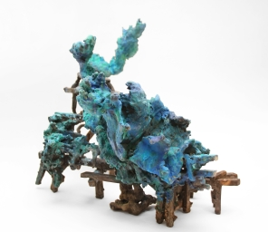 'Lunar Outpost', Patinated bronze, 39W X 29D X 27H CM, 2018