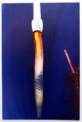 The Plume, Acrylic on canvas, 20 x 30cm, 2017.