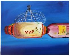 Mir, Acrylic on canvas, 20 x 30cm, 2017