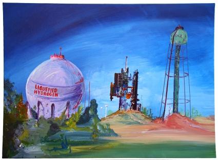 """Liquefied Hydrogen"", Acrylic on canvas, 2017"