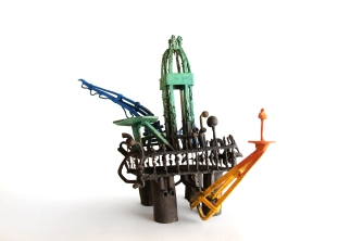 'The Rig', Patinated bronze, 34H x 48W x 34D CM, 2018.