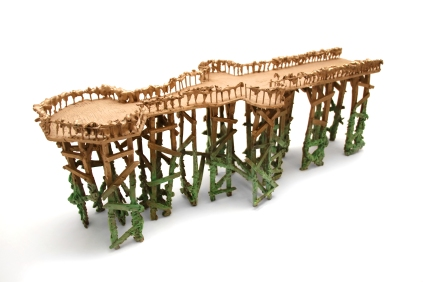 'The Pier', Patinated bronze, 72L x 24W x 26H cm, 2018