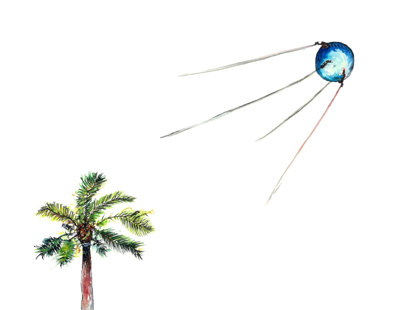 The Collision (Canary Island Palm with Sputnik)